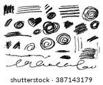 grunge brush stroke . vector... | Shutterstock .eps vector #387143179