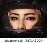 closeup portrait of beautiful... | Shutterstock . vector #387145009