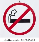do not smoke sign | Shutterstock . vector #387146641