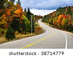 Fall Scenic Highway In Norther...