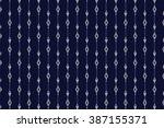 geometric ethnic pattern design ... | Shutterstock .eps vector #387155371