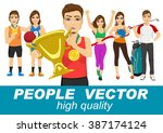 people vector with various... | Shutterstock .eps vector #387174124