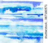 watercolor blue gradient like... | Shutterstock . vector #387180571