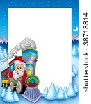Frame With Santa Claus And...