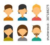 user avatar icons set in flat... | Shutterstock .eps vector #387188275