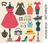 Old Retro Woman Fashion Clothe...
