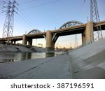 Los Angeles River Bridge At...