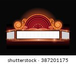 brightly vector theater glowing ... | Shutterstock .eps vector #387201175