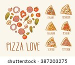 pizza love | Shutterstock .eps vector #387203275