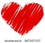 grunge red heart. heart shape... | Shutterstock .eps vector #387207157