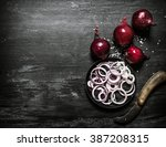 fresh red onion cut into rings. ...