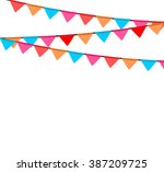 party background with flags... | Shutterstock .eps vector #387209725