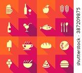 vector flat icon set  ... | Shutterstock .eps vector #387209875