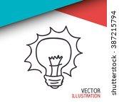 bulb light design  | Shutterstock .eps vector #387215794