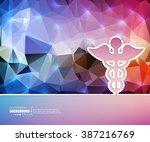 creative vector caduceus. art... | Shutterstock .eps vector #387216769