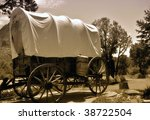 old covered wagon from the days ...   Shutterstock . vector #38722504
