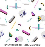 bright geometric pattern in the ... | Shutterstock .eps vector #387226489