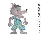 wolf watercolor illustration | Shutterstock . vector #387226837