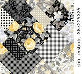 Seamless Patchwork Floral...