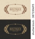 boutique monogram logo template ... | Shutterstock .eps vector #387230695