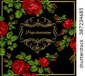 luxurious vintage card of red... | Shutterstock .eps vector #387234685
