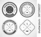 retro vintage logotype. vector... | Shutterstock .eps vector #387238357