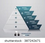 abstract pyramid shape layout... | Shutterstock .eps vector #387242671