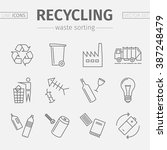 recycling line icons. waste... | Shutterstock .eps vector #387248479