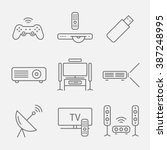 home theater line icons. house...   Shutterstock .eps vector #387248995