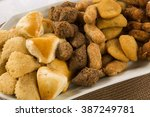 mixed brazilian snack.  | Shutterstock . vector #387249781