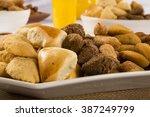 mixed brazilian snack.  | Shutterstock . vector #387249799