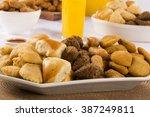 mixed brazilian snack.  | Shutterstock . vector #387249811
