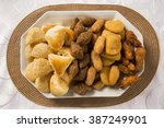 mixed brazilian snack.  | Shutterstock . vector #387249901