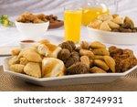 mixed brazilian snack.  | Shutterstock . vector #387249931