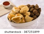 mixed brazilian snack.  | Shutterstock . vector #387251899
