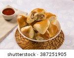 brazilian snack. chicken esfiha ... | Shutterstock . vector #387251905