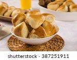 brazilian snack. meat esfiha... | Shutterstock . vector #387251911