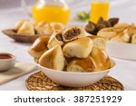brazilian snack. meat esfiha... | Shutterstock . vector #387251929