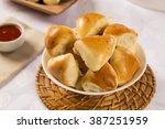 brazilian snack. meat esfiha... | Shutterstock . vector #387251959