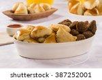 mixed brazilian snack.  | Shutterstock . vector #387252001