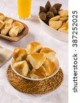 brazilian snack. meat esfiha... | Shutterstock . vector #387252025
