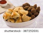 mixed brazilian snack.  | Shutterstock . vector #387252031