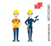 vector profession characters ... | Shutterstock .eps vector #387252385