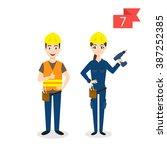 vector profession characters ... | Shutterstock .eps vector #387252385