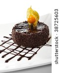 Dessert   Chocolate Iced Cake...