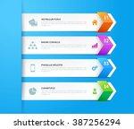 arrow infographic design... | Shutterstock .eps vector #387256294