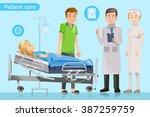 doctors explain the treatment... | Shutterstock .eps vector #387259759