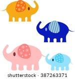 elephant vectors   Shutterstock .eps vector #387263371