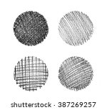 set of abstract hand drawn... | Shutterstock . vector #387269257