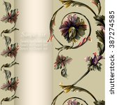 frame with baroque classic... | Shutterstock .eps vector #387274585